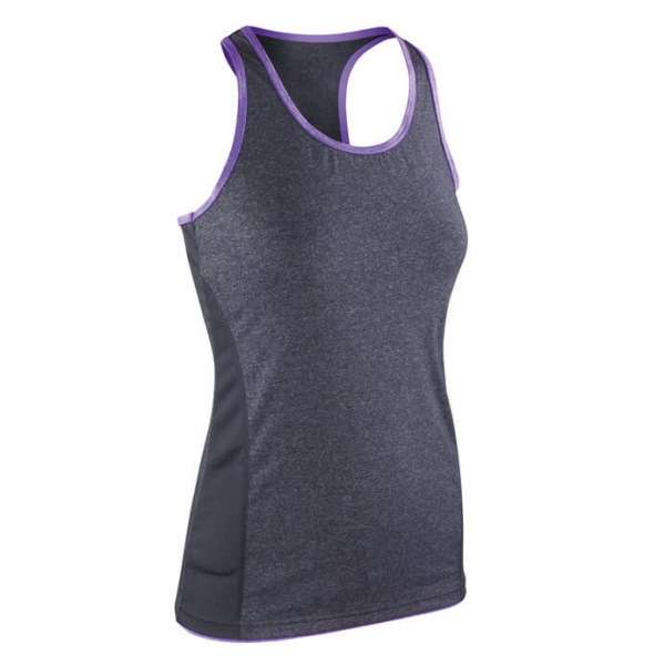 Result Spiro S272F Fitness Womens Stringer Back Marl Top
